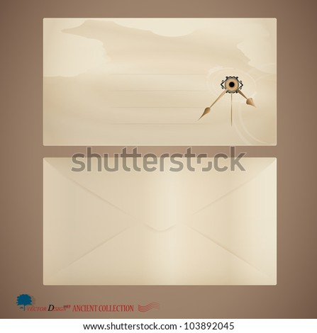 Vintage envelope. Vector Illustration.