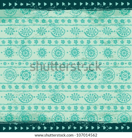 Vintage Ethnic ornament background