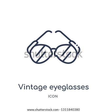 36e0fa83c4 vintage eyeglasses icon from other outline collection. Thin line vintage  eyeglasses icon isolated on white