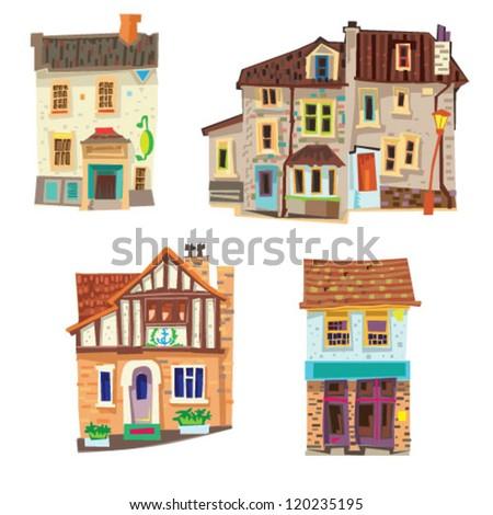 vintage facades - cartoon - bristol
