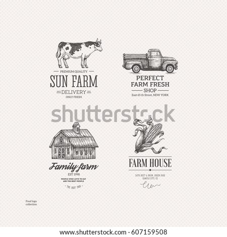 vintage farm food logo...