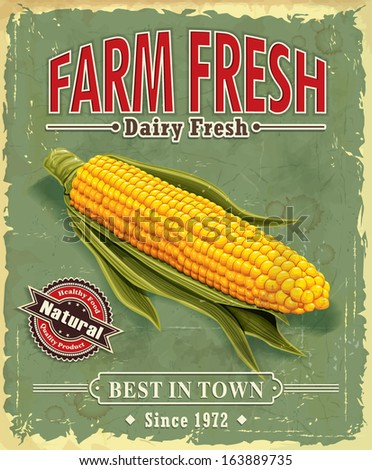 vintage farm fresh corncob...