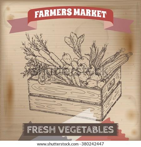 vintage farmers market label...