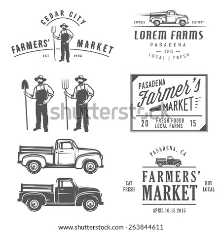 vintage farming labels  badges...