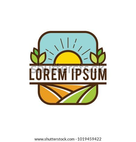 vintage farms four logo vector