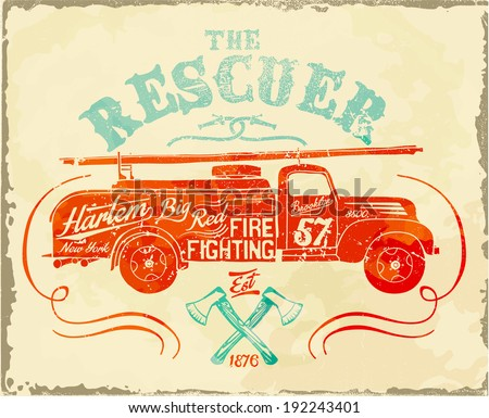 vintage fire-fighting label