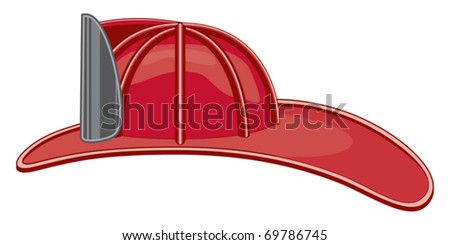 Vintage Firefighter helmet or fireman hat is a three color illustration that can be easily edited or separated for print or screen print.
