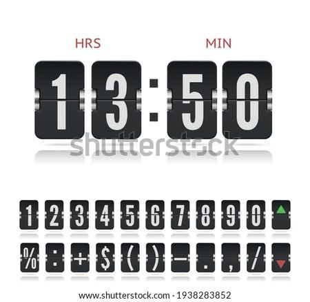 vintage flip clock time counter