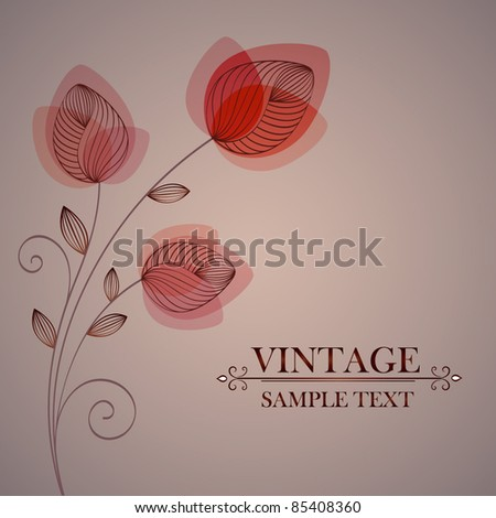 Vintage floral background.Element for design.