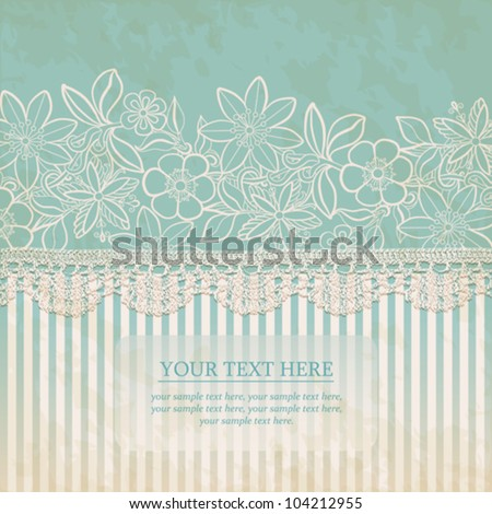 Vintage Floral Background. Vector greeting card template