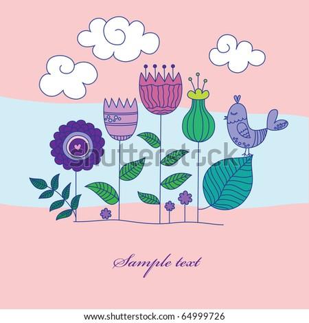 vintage floral background. vector illustration