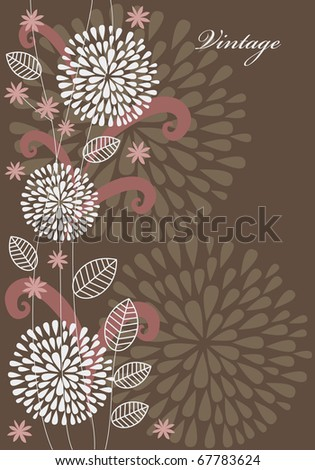 vintage floral background. vector illustration