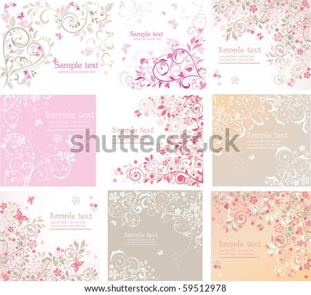 Vintage floral cards