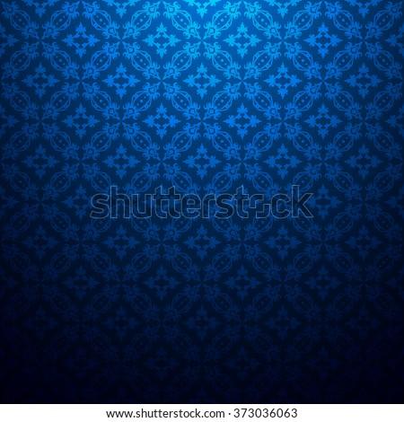 vintage floral dark blue
