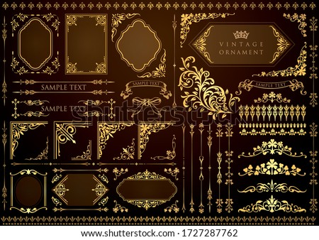 vintage floral design elements. decorative vector frames and borders.