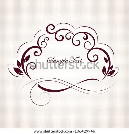 Vintage floral frame. Element for design.