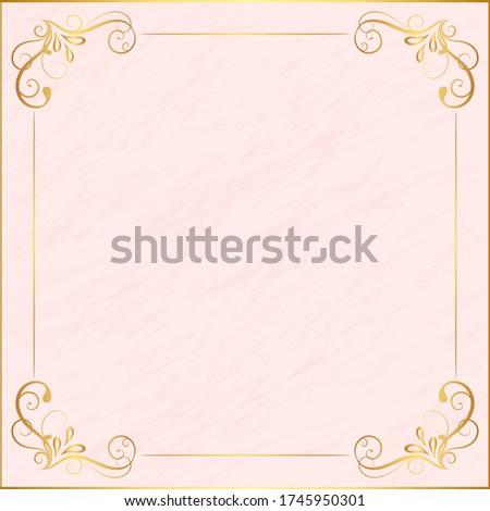vintage floral ornament border