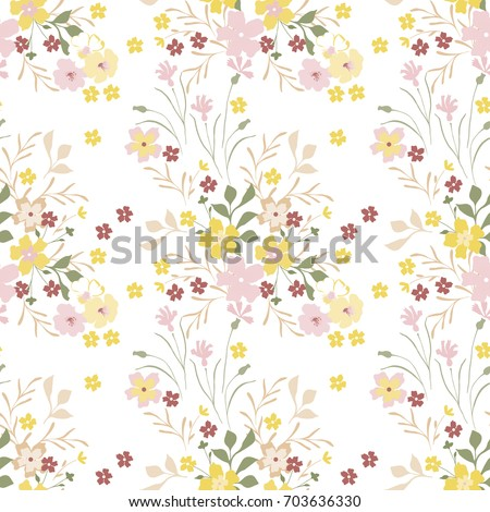 Vintage floral pattern cute small flowers for design fabric paper vintage floral pattern cute small flowers for design fabric paper wallpaper mightylinksfo