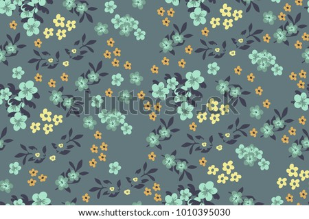 Vintage Floral Pattern Seamless With Cute Flowers For Textiles Packaging Wallpaper
