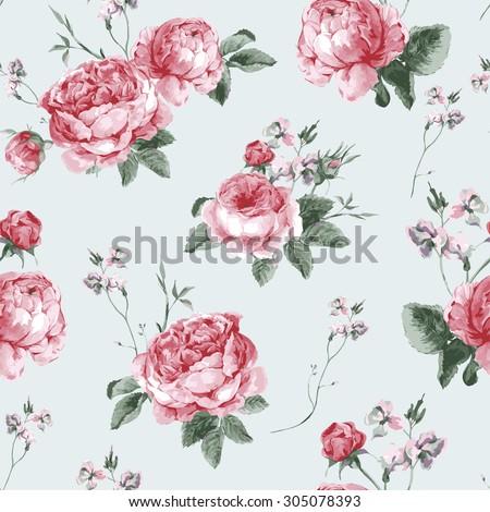 vintage floral seamless...