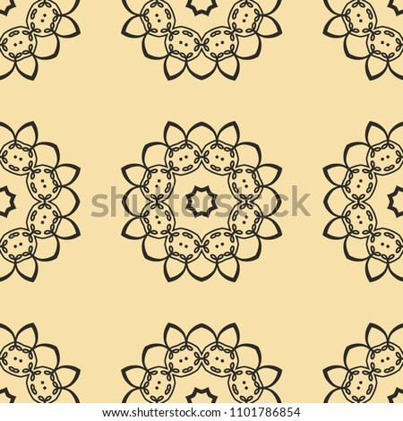 Vintage floral seamless floral texture. Element for design. Ornamental backdrop. Ornate floral decor for wallpaper. Traditional decor #1101786854