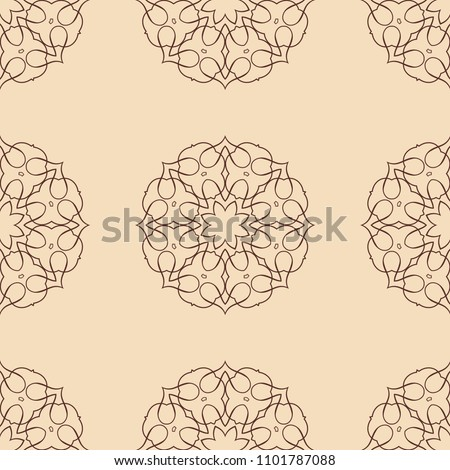 Vintage floral seamless floral texture. Element for design. Ornamental backdrop. Ornate floral decor for wallpaper. Traditional decor #1101787088