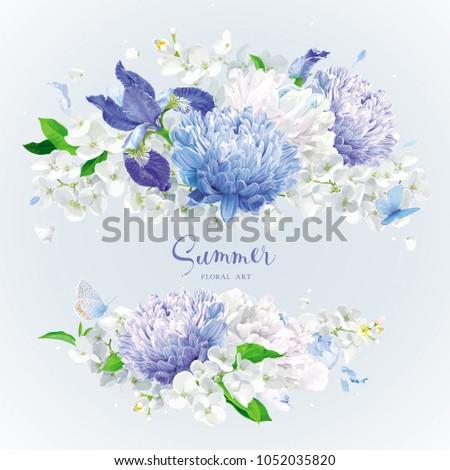 vintage floral vector rosette