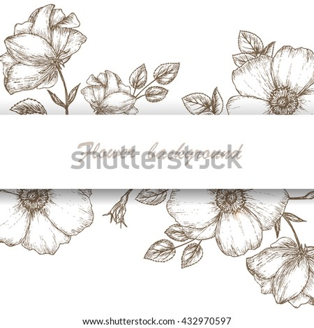 vintage flower background dog