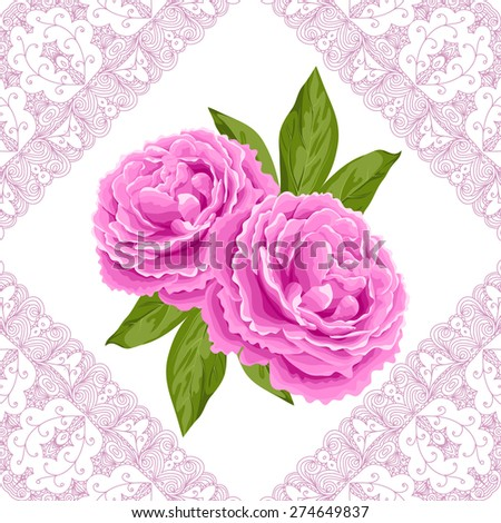 vintage flower card with