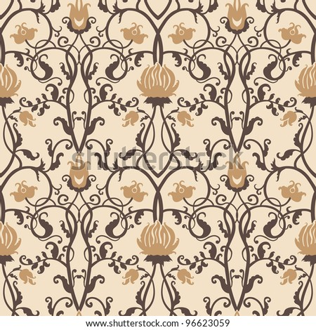 vintage flowers vector pattern