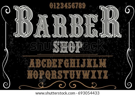 Vintage barber shop labels download free vector art stock