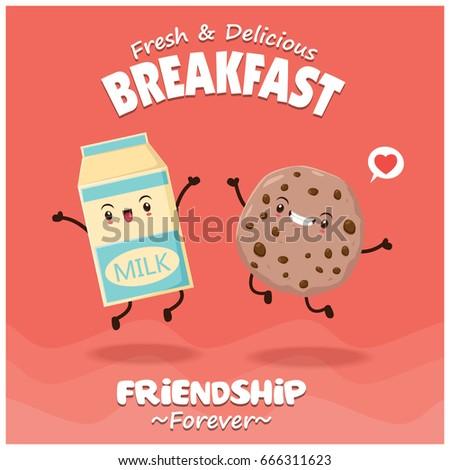 vintage food poster design with