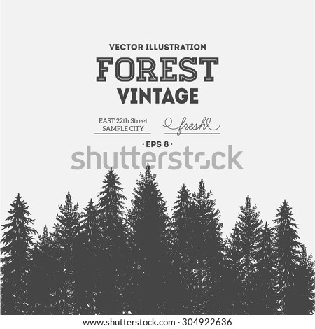 vintage forest design template