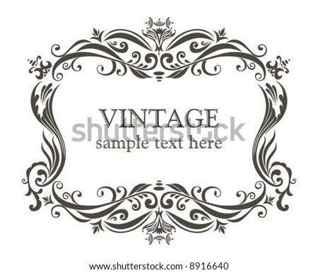 Stock Vector on Vintage Frame  Stock Vector 8916640   Shutterstock