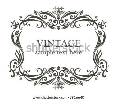 Vintage Text Frame Vectors - Download Free Vector Art, Stock ...