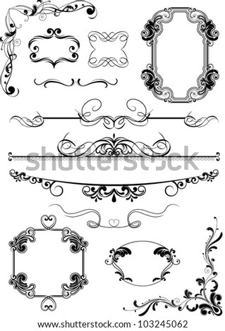 vintage frame abstract elements....