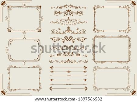 vintage frame and label set