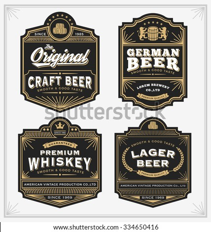 vintage frame design for labels
