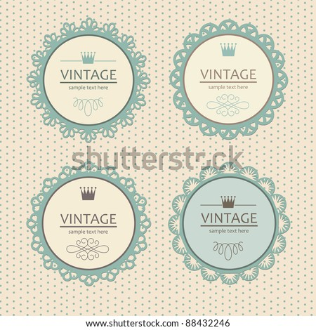 vintage frame design. vector illustration
