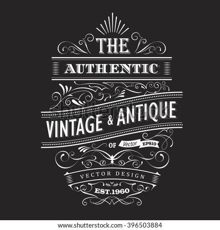 vintage frame design western