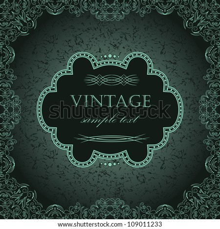 Vintage frame in retro style Abstract Background