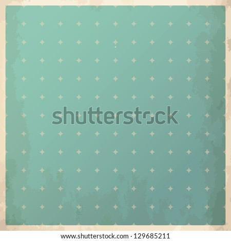 Vintage frame in the background with rhombus pattern. Vector illustration.