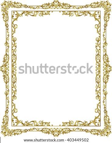 vintage frame retro decoration