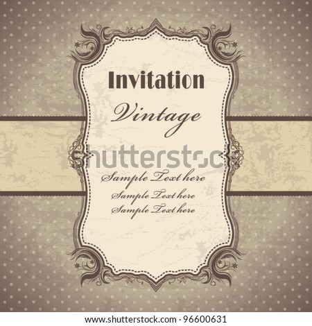 Vintage frame template (3)