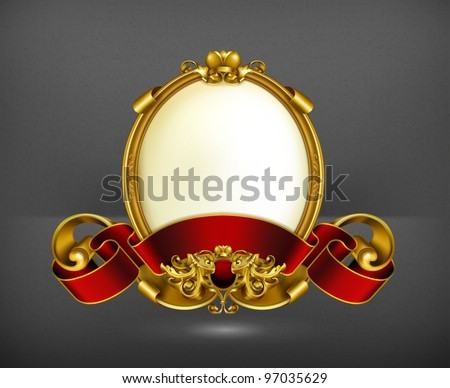 Vintage frame white, 10eps - stock vector