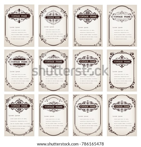 vintage frame with beautiful filigree, decorative border, luxury greeting cards,vector illustration