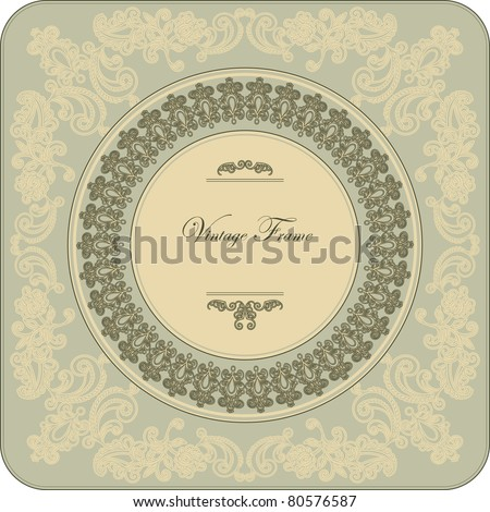 Vintage frame with floral ornament
