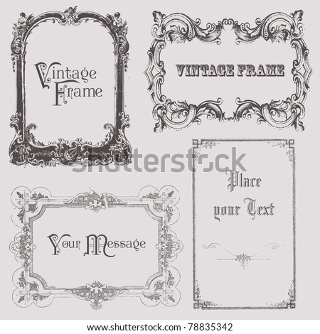 Vintage frames and design elements - with place for your text
