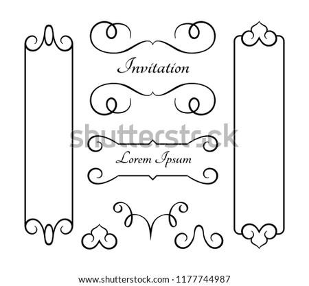 Scroll Works Design - Ornamental Decorative Frames - Vector Elements ...