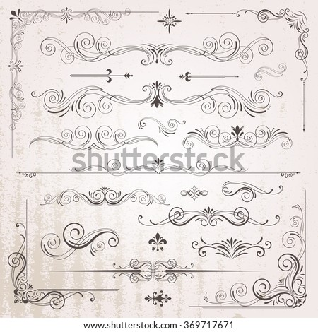 stock-vector-vintage-frames-and-scroll-elements